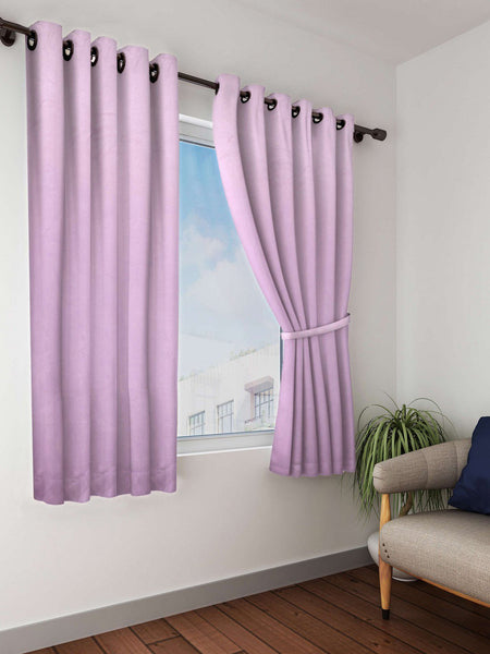 Roseberry Solid Premium Blackout Window Curtain (WC110)