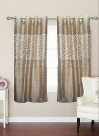 mustard designer window curtain (WC112)
