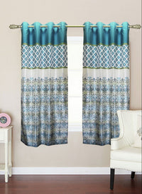 white n blue traditional window curtain (WC114)