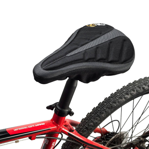 Via Velo Black Gel Thin Bicycle Seat Cover - Viavelo