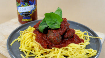 Spaghetti and Meatballs with Mother Tomato Cook-In Sauce
