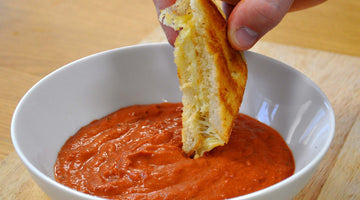 Classic Grilled Cheese Sandwich with Creamy Tomato Soup