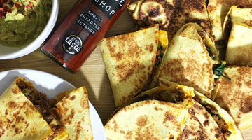 Beef Quesadillas with Smoky Chipotle Ketchup