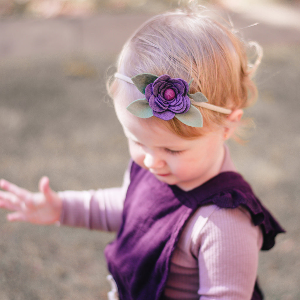 Ranunculus headband or hair clip - fig