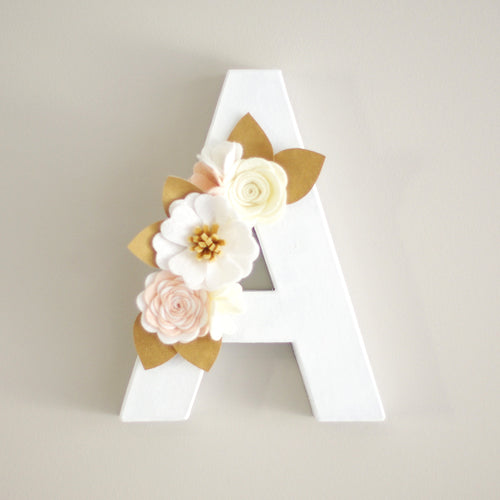 Floral Letter - choose your colours
