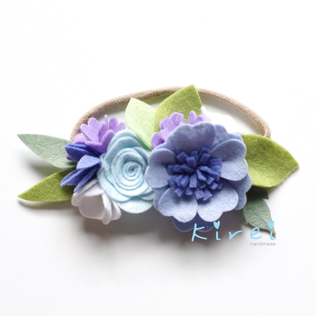 'Bluebell' small flower crown
