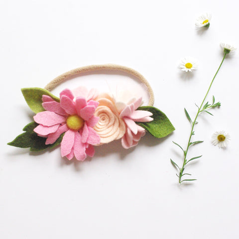 Wild Daisy small flower crown - Pink