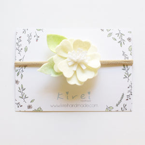 Ivory Kirei Bloom - headband or hair clip
