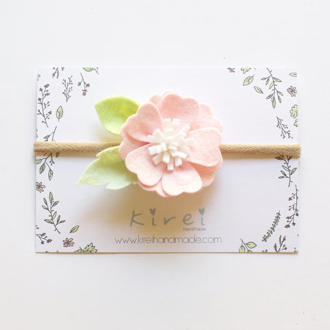 Baby Pink Kirei Bloom - headband or hair clip