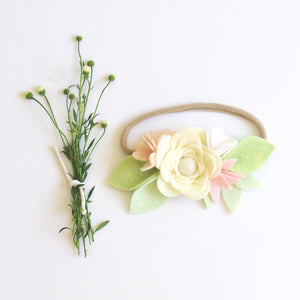 'Giselle Ranunculus' small flower crown