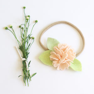 Carnation headband or clip - Neutral Pink