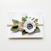Daisy Garden headband - neutral