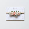 Dainty flower crown (mini) - baby pink