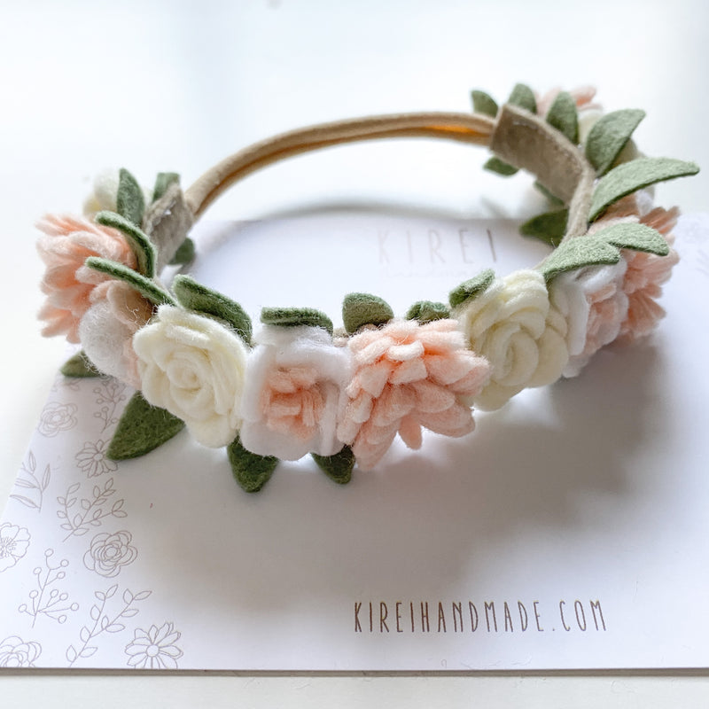 Dainty flower crown - classic neutral *with FREE keepsake box and 'This flower crown belongs to...' timber plaque*