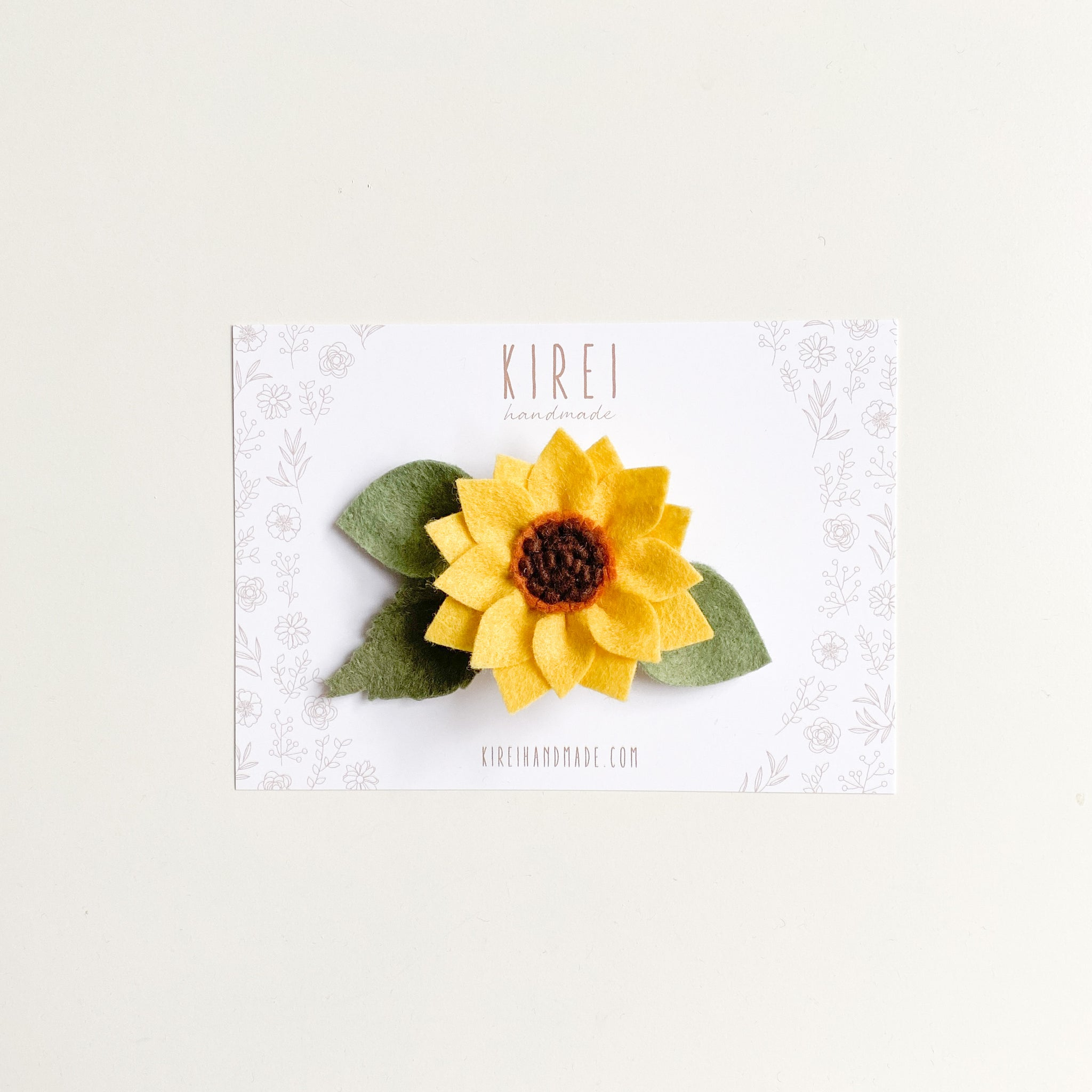 Sunflower headband/ clip