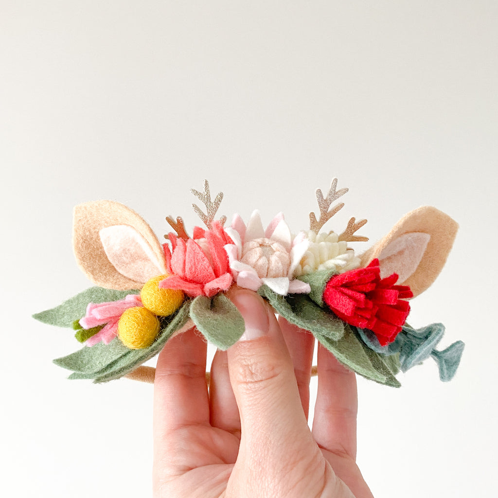 Christmas Fawn Flower Crown - Australiana