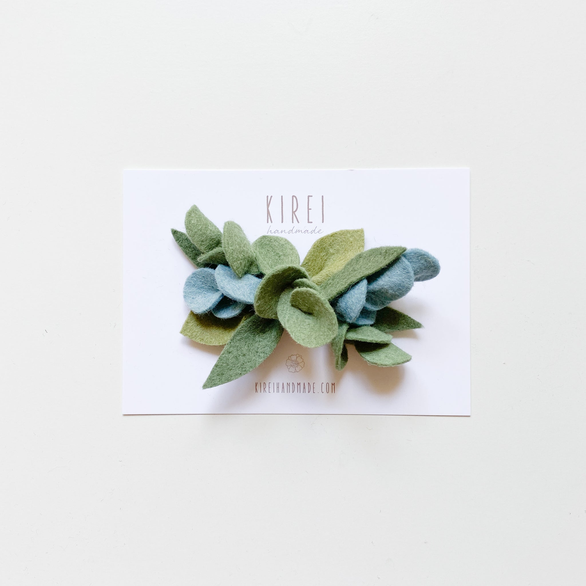 Gum leaves headband/ hair clip - neutral