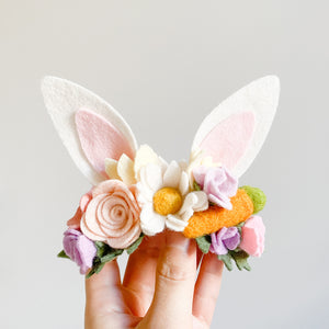 Bunny Ears Headband - Easter Daisy