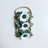 Succulent and Anemone hair clip