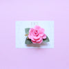 Valentine's Day rose piggies clips - candy pink