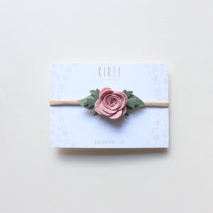 Baby Rose headband/hair clip - Rose smoke