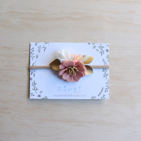 Baby Rose single flower headband/hair clip - rose smoke