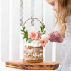 Flower wreath cake topper - choose your colours