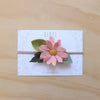 Baby Rose single flower headband/hair clip - peach