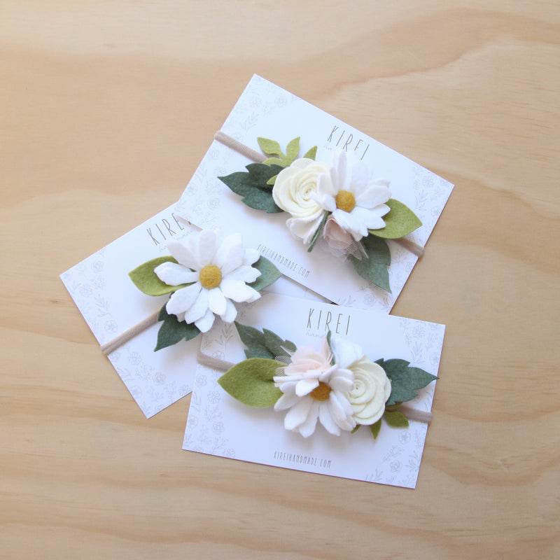 Wild Daisy small flower crown