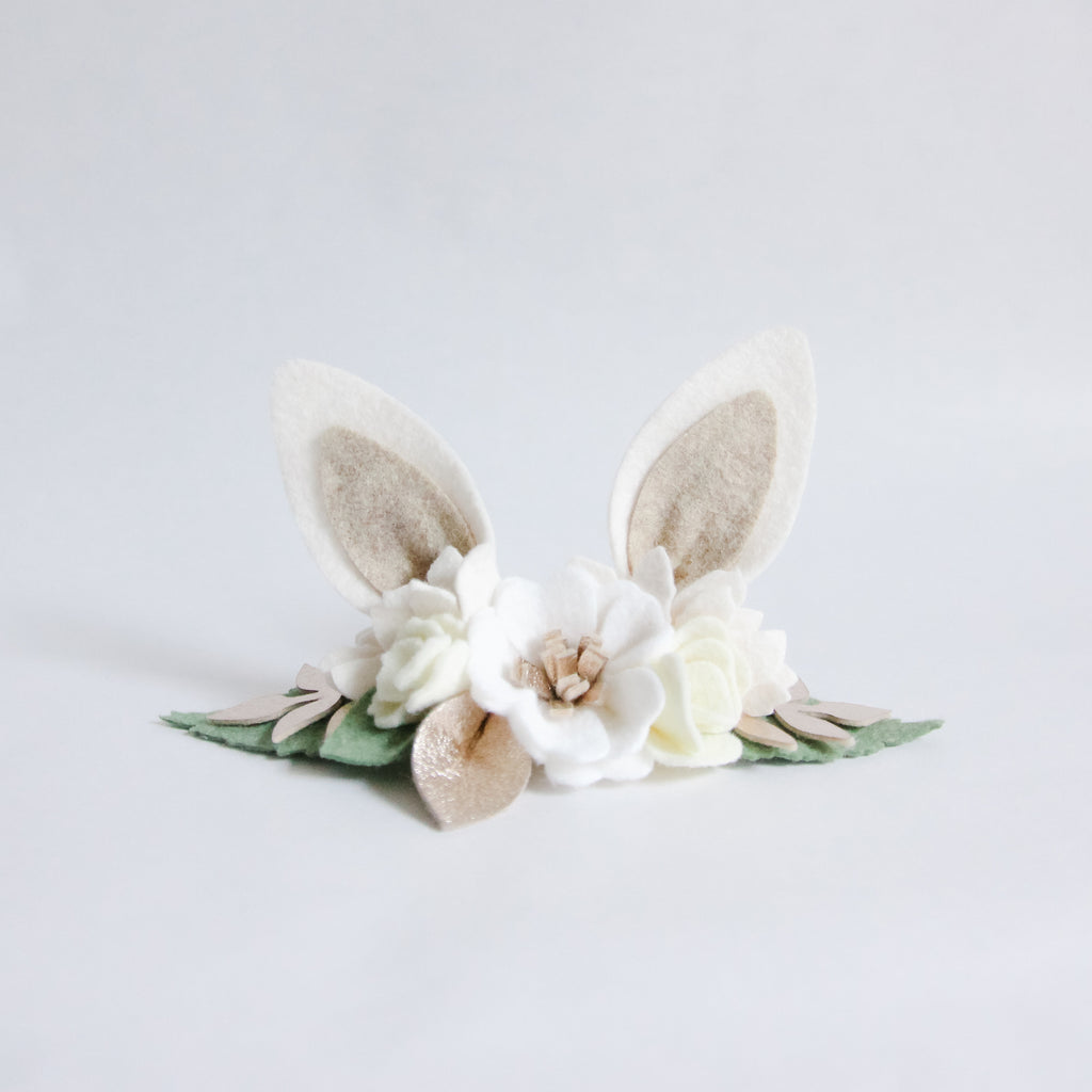 Bunny Ears Headband - Neutral Champagne