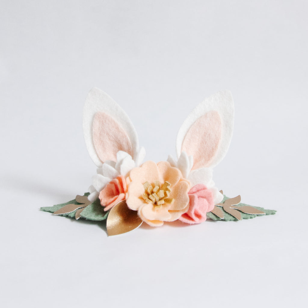 Bunny Ears Headband - Peachy Gold