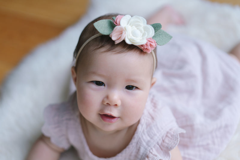 Chantilly posy headband