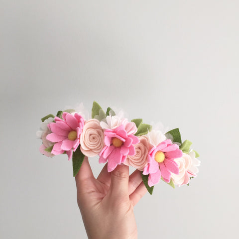 Wild Daisy maxi flower crown - Pink