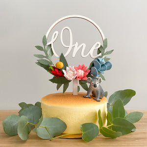 Australiana Flora Cake Topper *Multiple words to choose from*