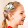 Berries headband/hair clip - white and silver