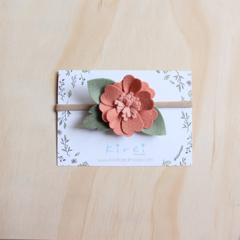 Baby Rose headband or hair clip - Mustard