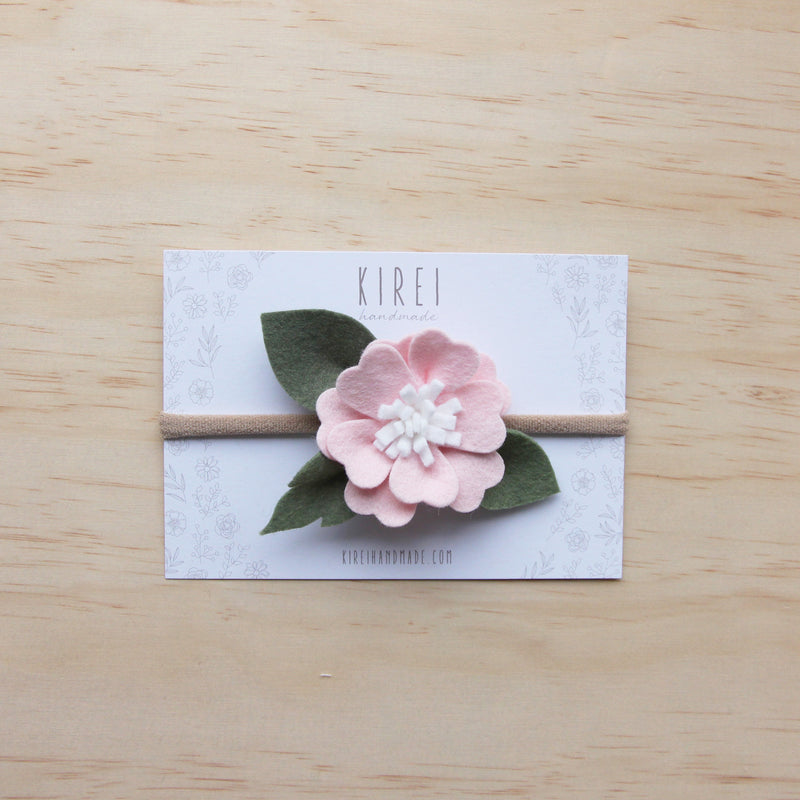Kirei Bloom headband/ clip - baby pink