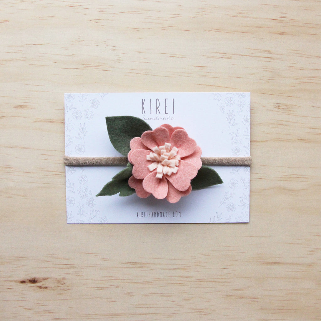 Kirei Bloom headband/ clip - blush