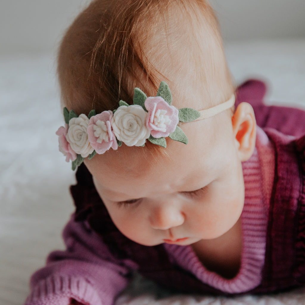Dainty flower crown (mini) - baby lilac
