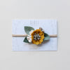 Baby Rose headband or hair clip - violet
