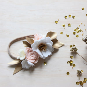 Neutral Luxe small flower crown