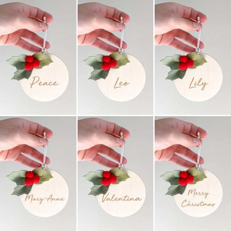 2ND PREORDER AVAILABLE SOON - Personalised Christmas Ornament - multiple designs to choose from