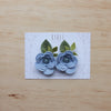 Ranunculus flower set of 2 piggies clips - wisteria