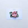Baby Rose headband/hair clip - Christmas red