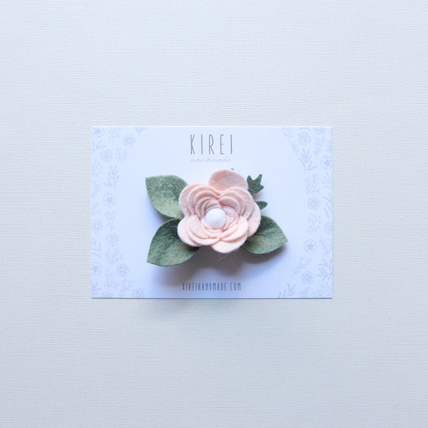 Ranunculus headband/ hair clip - neutral pink