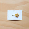 Pompom flower snap clip - gold