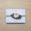 Ranunculus headband or hair clip - rose smoke