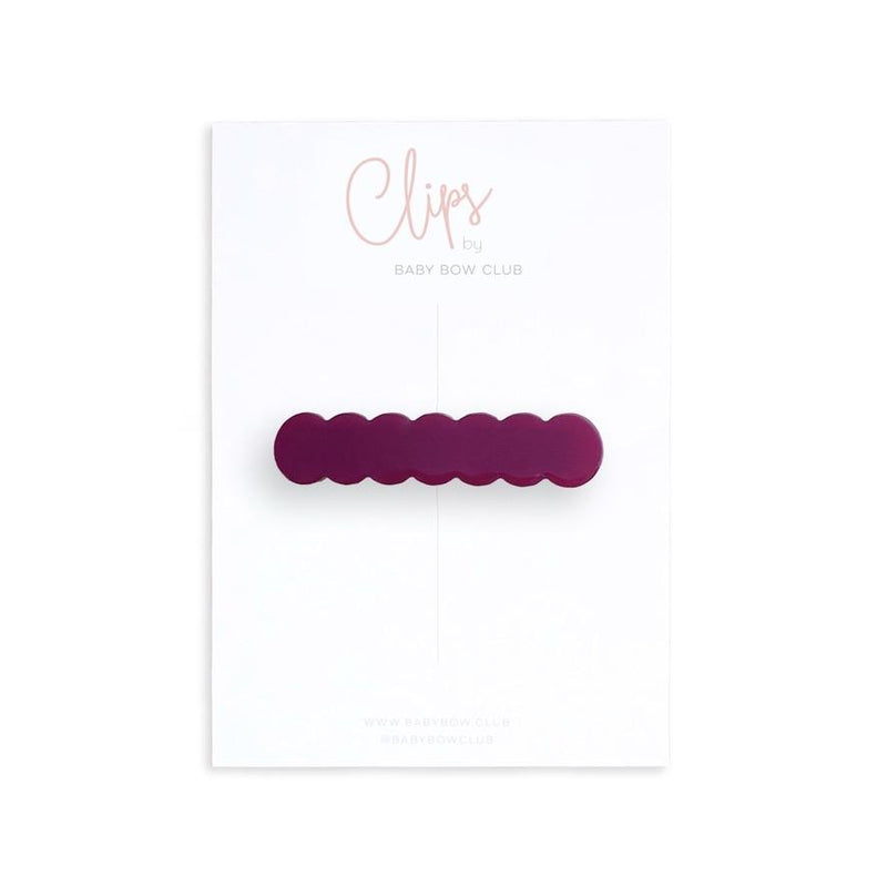 Scallop Clip // Grape
