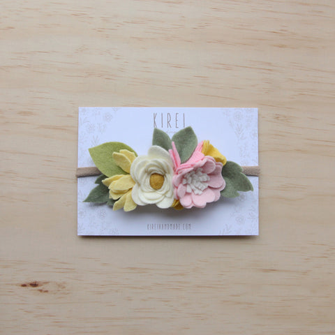 Elderflower posy headband
