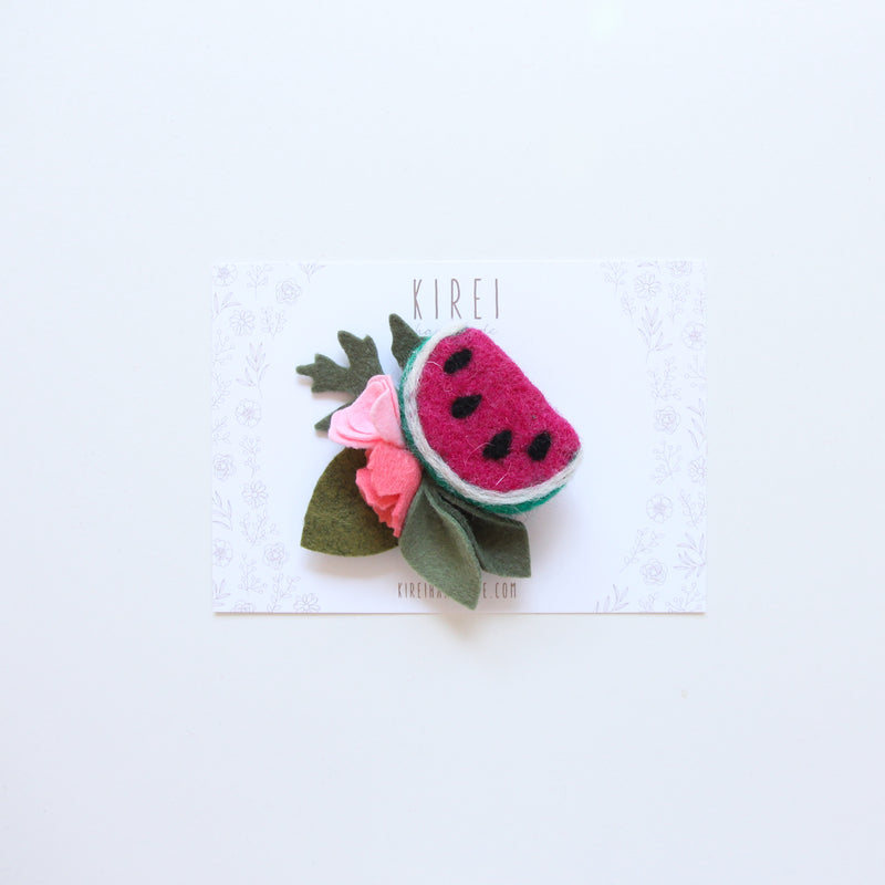 Watermelon headband/ hair clip